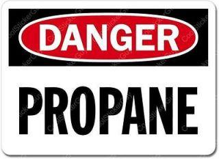 Danger Propane Sign Wall Window Car Vinyl Sticker Decal Mural   Pick