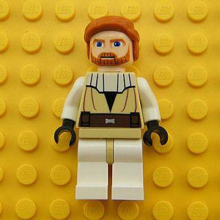Obi Wan Kenobi (Clone Wars) LEGO Minifigure Star Wars Minifig 7753
