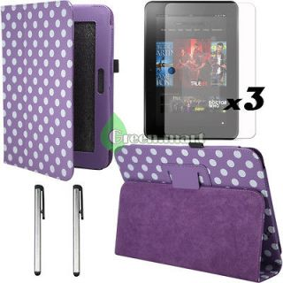 Skin Leather Stand Case Cover For. Kindle Fire HD 8.9 +Stylus GR