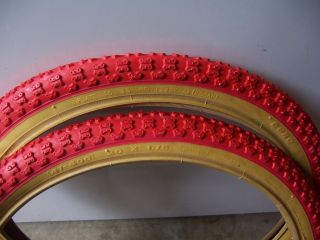 red mountain bike tires