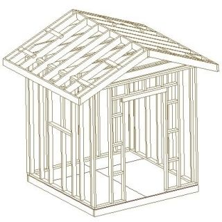 8X8 GABLE UTILITY SHED, 26 PLANS, BUILD YOUR OWN SHOP, STEP BY STEP