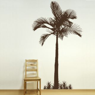 PALM TREE TROPICAL BEACH Wall sticker huge removable vinyl uk decal