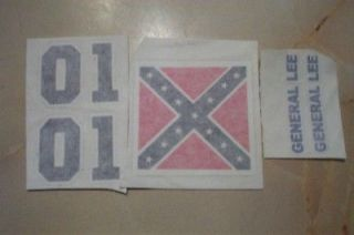 DUKES OF HAZZARD MEGO GENERAL LEE DECALS. SUPER NICE
