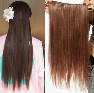 Charming ladies long straight hair extension clips on 3 Colors AD 18.5