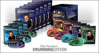 THE DRUMMING SYSTEM   DRUM LESSONS   20 DVDs, 15 CDs & 5 WORKBOOKS