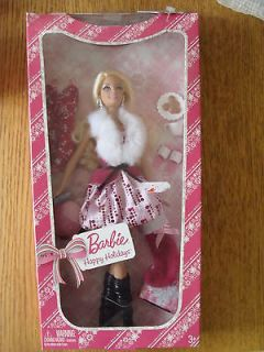 2009 BARBIE Happy Holidays Collection Doll New in Box with 7