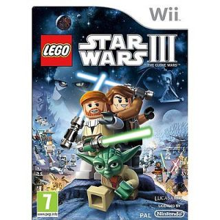 star wars 3 III The clone wars for Nintendo Wii video games console