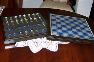 Franklin Mint Civil War Chess Set   1983   Complete Set of pieces plus