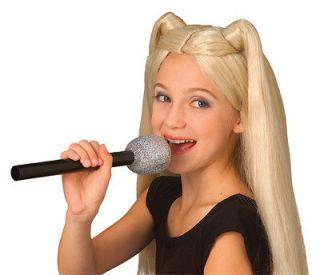 Glitter Microphone MIC Rockstar Pop Star Diva Disco 80s 70s NEW Kids