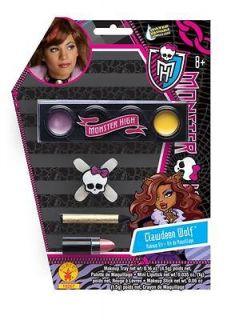 Monster High Clawdeen Wolf Makeup Kit Girls Child Costume Accessory