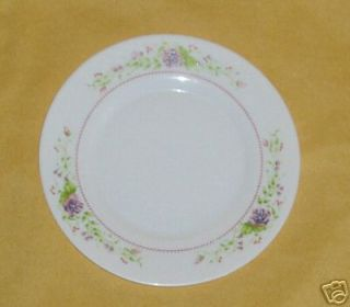 ARCOPAL FRANCE ~ PINK PURPLE ROSE ~ SALAD PLATE