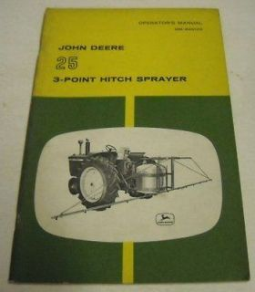 John Deere ca. 1950s 25 3 Point Hitch Sprayer Manual