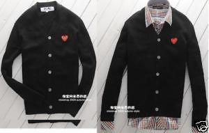 Comme des Garcons PLAY CDG Sweater coat szXL (Black)