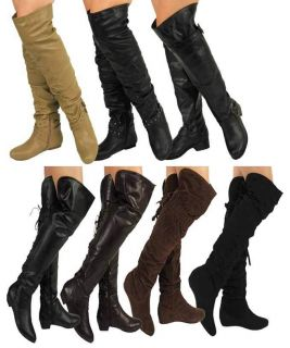 ,Se xy women lace thigh high over the knee low heel costume boots,TER
