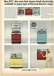 GE General ElectricModel P7 The Electric Oven That Cleans Itself Ad