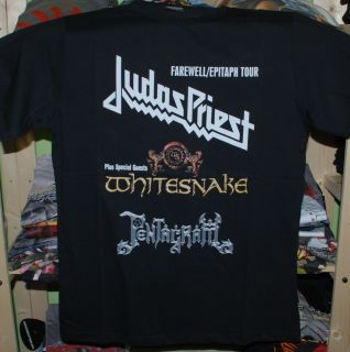 Judas Priest Whitesnake Tour T shirt large new rare Pentagram