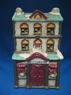 Dr Spencer Office Christmas Village Lighted Light Up Building Holiday