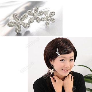 Beautiful Fashion Crystal Plum Flower Style Hair Barrette Clip Hairpin