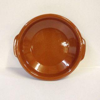 New 9.1 Brown Cazuela Bowl #4 Spanish ceramic terra cotta by