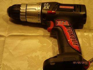 Craftsman 315.114500 7.2V EX 70 in. lb torque 3/8 Cordless Drill