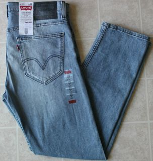 New Mens Levis 521 Slim Fit Tapered Leg Light Faded Blue Color Jeans
