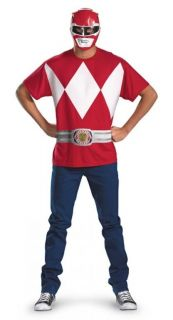 Power Ranger Red Ranger Halloween Costume Kit Dress Up Shirt Mask