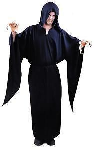 Child Boys Quality Horror Black Robe Halloween Costume Fancy Dress Up