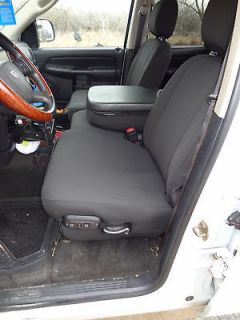 Dodge Ram Front 40/20/40 Split Seat Exact Seat Covers In Black Twill