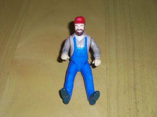 Dukes of Hazard Uncle Jesse Figure Poseable 3 3/4 Brown Hair/Beard
