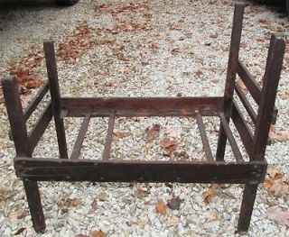 Vintage Wooden Primitive Baby Doll Bed Crib