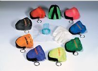 50 CPR MASK FACE SHIELD BARRIER KEY CHAIN KIT GLOVES