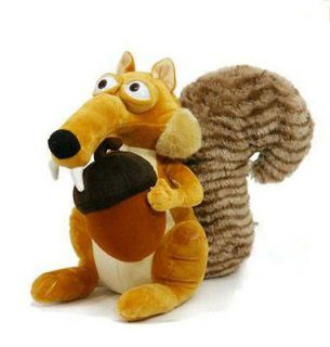 Ice Age 3 SCRAT Squirrel Stuffed Plush toy 7 NEW