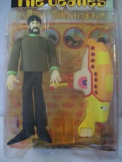BEATLES GEORGE HARRISON MCFARLANE YELLOW SUBMARINE FIGURINE MIB #D1260