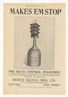 1925 Horni Signal Multi Control Traffic Light Print Ad