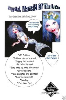 CRYSTAL Mermaid Of The Lake 21 CLOTH DOLL PATTERN CD