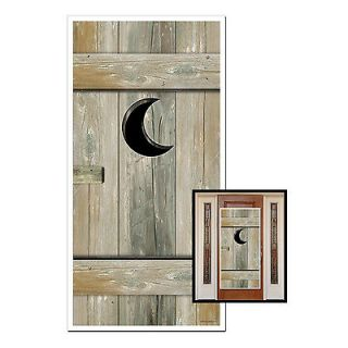 30x60 Western Outhouse Bathroom Door Cover Party Supplies decorations