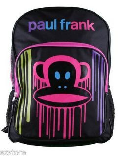 Frank Monkey Black Neon JULIUS School Rainbow Large Backpack Bag Tote