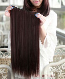 One Piece long straight/curly / hair extensions clip in on Xmas gift