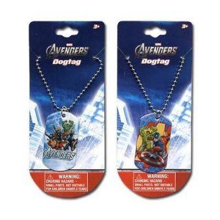 Avengers Iron Man Capt America Hulk Kids Boys Dog Tag Necklaces Chain