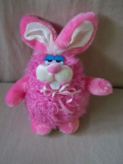 Dan Dee Collectors Bunny Rabbit Plush Pink Plump Chubby Fat Stuffed