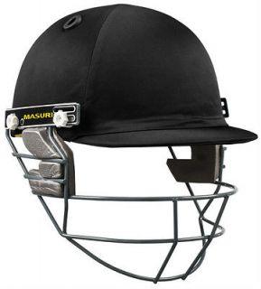 2013 Masuri Club Steel Grill Mens Black Cricket Helmet