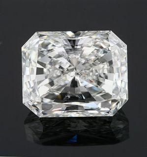 2CT Radiant EGL Certified Loose Engagement Diamond Ring