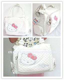 Cute Hellokitty Girl Women White Tote Bag PU Leather Hand Bag Purse