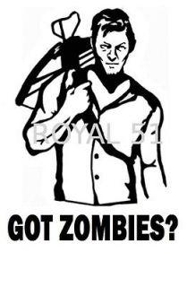 Redneck Got Zombies Daryl Dixon The Walking Dead Die Cut Decal Sticker