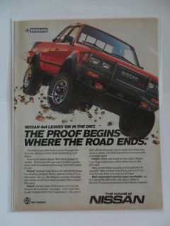 1985 Print Ad Nissan Datsun 4x4 Standard Pickup Truck BELT YOURSELF