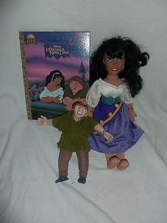 Disneys HUNCHBACK OF NOTRE DAME Lot Quasimodo + Esmeralda Doll + BOOK