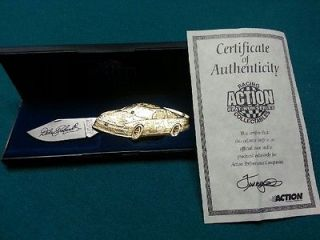Dale Earnhardt Sr collectible gold knife Bass pro car