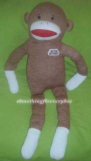 Dan Dee Collectors Choice Huge Large Big Jumbo Brown Sock knit Plush