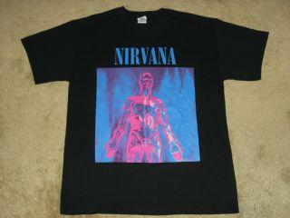 Nirvana Sliver S, M, L XL, 2XL Black T Shirt