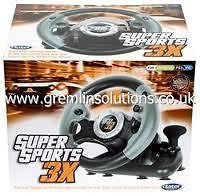 Datel Super Sports 3X Racing Wheel Controller for PS3, Xbox 360, PC
